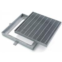 Buy cheap Custom Hinged Mental Drainage Ditch Covers, Reliable Galvanized Trench Grating from wholesalers