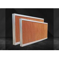 Buy cheap Corrugated Cellulose Greenhouse Evaporative Cooling System High Cooling Efficiency from wholesalers