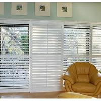 Buy cheap Manual Sliding Inside Window Shutters Wood For Room Ventilation from wholesalers