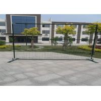 Buy cheap Powder coated 6'/1830mmx10'/3048mm width construction temp fence panels mesh 2x4/50mmx100mm*11.5ga frame 40mm*40*1.5mm from wholesalers