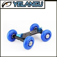 Blue Tabletop Mobile Rolling Camera Rail Slider Mini Dolly Car Skater Video Track Manufactures