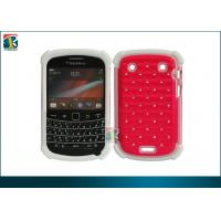 China PC and Soft Silicone Red, Pink Hybrid bling Protective Case for Blackberry Bold 9900 on sale