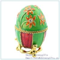 Buy cheap Royal Blue Russian Egg Trinket Box, Bleu Blue Inspired Russian Egg on sale SCJ767 from wholesalers