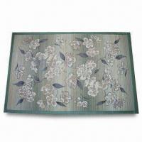 Wholesale Natural and Carbonized Bamboo Rug in Customized Artworks, OEM Orders are Welcome from china suppliers