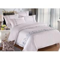 Buy cheap Embroidery White Hotel Collection Bedding Duvet CoversFor Home Spa Queen Size from wholesalers
