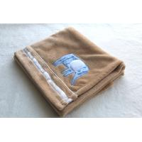 Coffee Color Polyester Baby Blanket Flannel Various Design / Size Manufactures