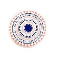 Buy cheap Plain Style Simple Australia Beach Round Towel Printed Cotton Tassels 320gsm from wholesalers