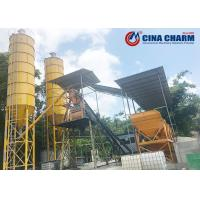 Buy cheap Stationary Type Automatic Concrete Batching Plant 75m3/H Productivity from wholesalers