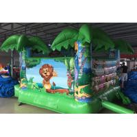 Buy cheap Zoo Park Small Home Inflatable Bouncer Combo / Backyard Kids Bounce House from wholesalers