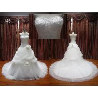 Buy cheap Luxury beaded ruffle tulle wedding dresses from wholesalers