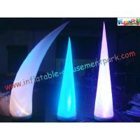 Wholesale LED RGB Color Inflatable Lighting Decoration Cone Tusk Pillar 53CM x 52CM x 19CM from china suppliers