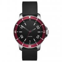 Buy cheap Waterproof Simple Luxury Watches , Understated Mens Watches Black Silicone Strap from wholesalers