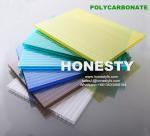 Buy cheap fire retardant hollow plastic sheet 4mm 6mm 8mm 10mm hollow polycarbonate sheet Foshan Honesty polycarbonate sheet from wholesalers