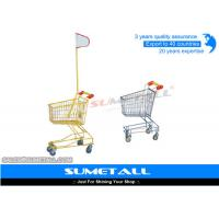 China Colorful Lightweight Supermarket Shopping Trolley Kids Shopping Cart With Wheels on sale