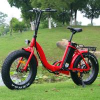 Buy cheap Popular 20 Inch Folding Electric Bike Red Color Motor Power 48V 500W CE Approved from wholesalers
