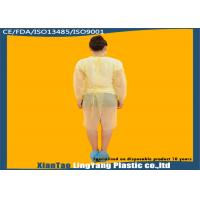 Buy cheap Durable Elastic Cuff Disposable Dressing Gowns , Disposable Surgical Apron OEM Service from wholesalers
