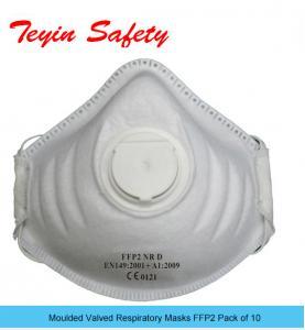 Moulded Valved Respiratory Masks FFP2 NR D Pack of 10 EN149:2001+A1:2009