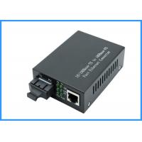 Buy cheap 10 / 100Mpbs SC Optical Network Media Converter 20KM Single Mode 9 / 125um Type from wholesalers