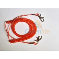 Buy cheap Promotional Spiral Retractable Fishing Lanyard , Red Coiled Security Tethers product