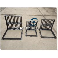 Buy cheap lockable hot sales gully grate 600x600  500x500,drain cover, ductile iron GGG50-7,  black bituminous paint,machine mould from wholesalers
