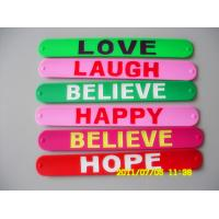 Buy cheap Party Healthy Silicone Slap Bracelet / Sports Silicone Bracelets from wholesalers