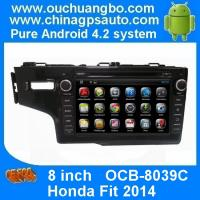 Buy cheap Ouchuangbo In Dash GPS Navi DVD Stereo Honda Fit 2014 Radio 3G Wifi Capacitive Android 4.4 from wholesalers