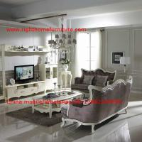 China Neoclassical Living Room Furniture by Pure white Wall Unit and Coffee table with Luxury Sofa set on sale