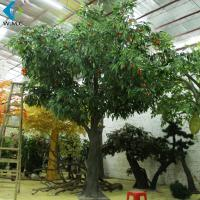 Wholesale 4m Height Artificial Fruit Tree , Lychee Fruit Tree With Fiberglass Trunk from china suppliers
