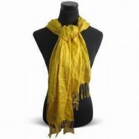 Buy cheap Pashmina Shawl in Fashionable Design, Made of 45% Polyester and 55% Acrylic product