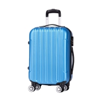 Wholesale Combination Lock Navy Blue ABS ODM 4 Wheel Trolley Luggage from china suppliers