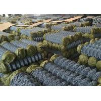 Buy cheap Hot Dipped Galvanized Steel Chain Link Fence For Railway Woven Diamond Pattern from wholesalers