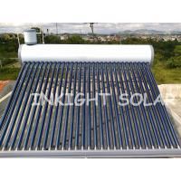 Buy cheap White Color Steel Solar Coil Water Heater 30 Tubes High Density Integral PU Insulation from wholesalers