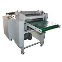 Buy cheap rubber material slitting and sheeting machine with conveyor belt from wholesalers
