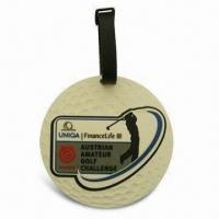 Wholesale Promotional Golf Luggage Tag, Eco-friendly, Made of Soft PV Material, OEM and ODM Orders are Welcome from china suppliers
