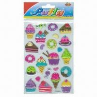 Buy cheap Children's Puffy Stickers, Comes in Cute and Colorful Designs product