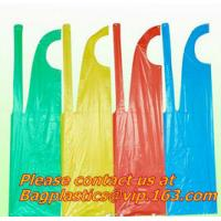 Buy cheap Wholesale Cheap PE Apron restaurant kitchen for adults colorful Disposable plastic apron, BIODEGRADABLE COMPOSTABLE CORN from wholesalers