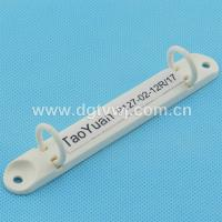 Buy cheap Office stationery plastic 2 ring binder clip in white color from wholesalers