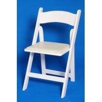 Buy cheap Party UV Wood Folding Chair , White / Black Armless Solid For Wedding from wholesalers