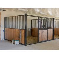Buy cheap Indoor Prefab Horse Stall Panels Durable Solid Welded One Piece Frame from wholesalers