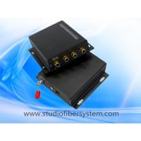 China 2CH stereo audio fiber converters with RCA interface for 2CH digitally encoded stereo audio to 10~120KM on sale