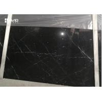 Quality Anti Wear Marble Natural Stone Slabs Nero Marquina Black Color With White Veins for sale