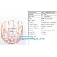 Buy cheap Lined Utility Metal Wire Storage Bin Laundry Basket with Handles for Heavy Duty Use In Office, Craft Room, Kitchen, Pant from wholesalers