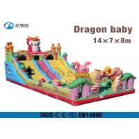 Buy cheap amusement park game Dragon Baby inflatable slide with climbing from wholesalers