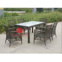 Buy cheap luxury wholesale dining furniture,Elegant Poly Rattan Furniture Outdoor Wicker Dining Table And Chair from wholesalers