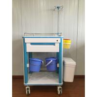 China ABS Hospital Medical Cart Multifunction Medical Cart With Two Waste Bin And IV Pole on sale
