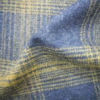 Buy cheap Wool/Poly Yarn Dyed Check Brushed Fabric, Used for Dress and Coat product