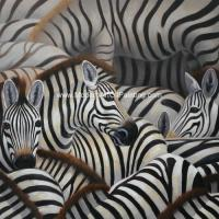 Quality Handmade Abstract Art Canvas Paintings Animal Zebra Print Canvas Wall Art for sale