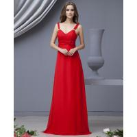 Buy cheap Graceful Red Strapless long party dresses with flower for Summer , Spring from wholesalers