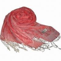 Wholesale Cashmere-like Scarf, Customized Specifications are Accepted, Measuring 67x178cm+10x2cm from china suppliers