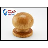China Painted Round Wooden Drawer Knobs Dresser Pulls 25mm Height  Simple Door Handles Wooden Furniture Fittings on sale